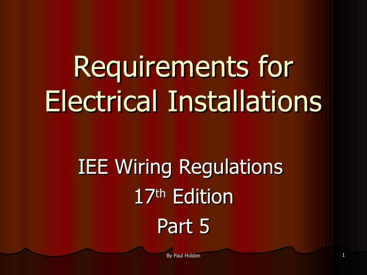 17th edition part 5 2 1 requirements for electrical installations ulliiee wiring regulations keyboard keysfo Gallery