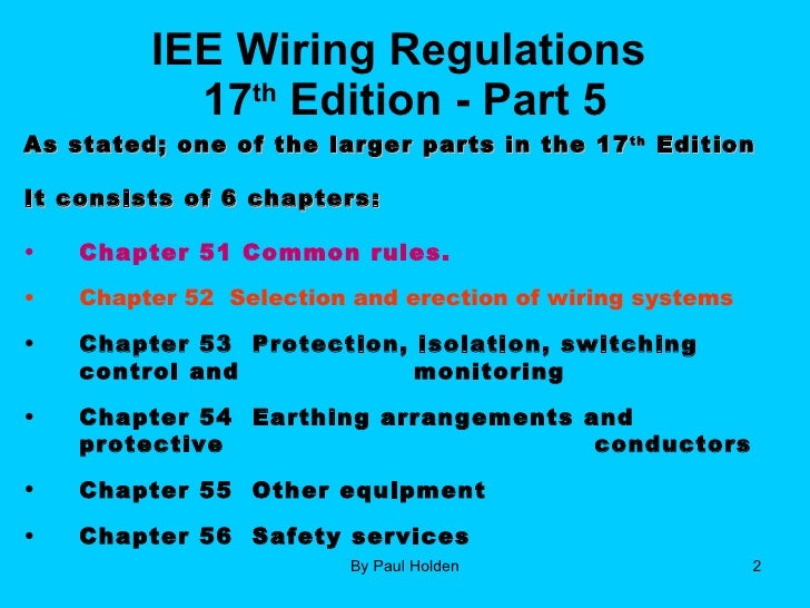 17th edition part 5 2 1 rh slideshare net iee wiring regulations 16th edition iee wiring regulations ppt free download