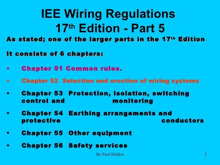 Iee wiring regs wire center 17th edition part 5 2 2 rh slideshare net iee wiring regulations seventeenth edition iee wiring keyboard keysfo Images