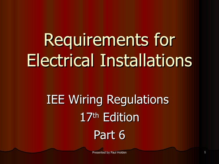 Magnificent 17Th Edition Part 6 Wiring 101 Relewellnesstrialsorg