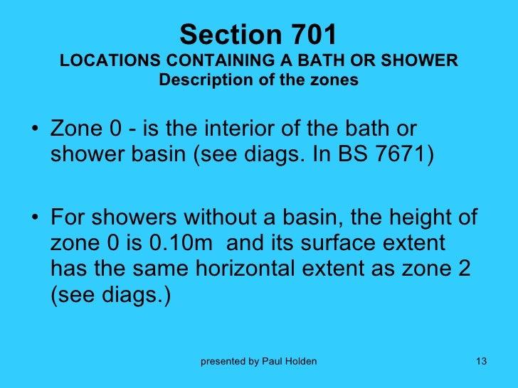 Bathroom Zones 17th Edition 17th edition part 701