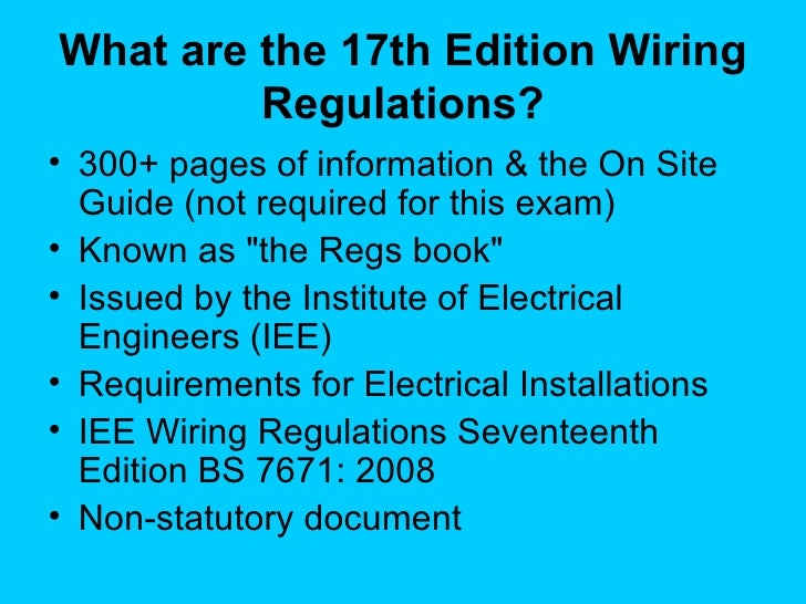 Pleasing 17Th Edition Regs F I R S T Wiring Database Wedabyuccorg