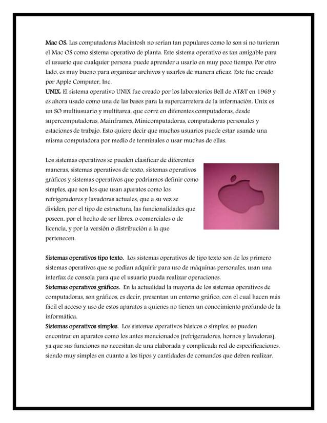 Mac OS: Las computadoras Macintosh no serían tan populares como lo son si no tuvieran el Mac OS como sistema operativo de ...