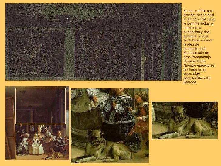 Es un cuadro muy grande, hecho casi a tama ñ o real; esto le permite incluir el techo de la habitaci ó n y dos paredes, lo...