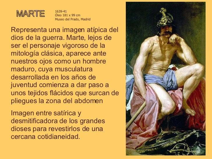 Representa una imagen atípica del dios de la guerra. Marte, lejos de ser el personaje vigoroso de la mitología clásica, ap...