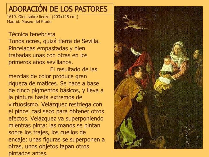 Técnica tenebrista  Tonos ocres, quizá tierra de Sevilla. Pinceladas empastadas y bien trabadas unas con otras en los prim...