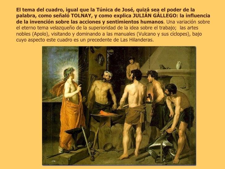 El tema del cuadro, igual que la Túnica de José, quizá sea el poder de la palabra, como señaló TOLNAY, y como explica JULI...
