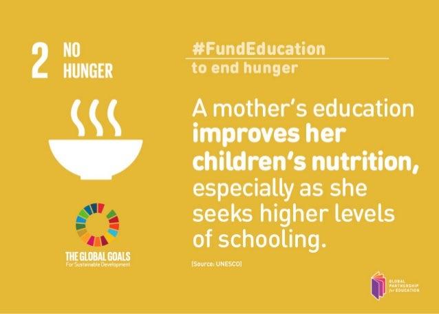 17 ways education influences the 17 global goals Slide 2
