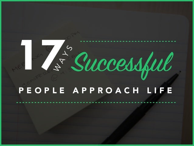 ways to be successful