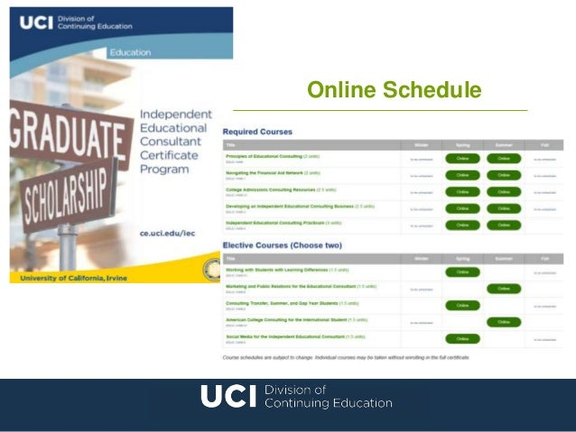educational consultant certification online