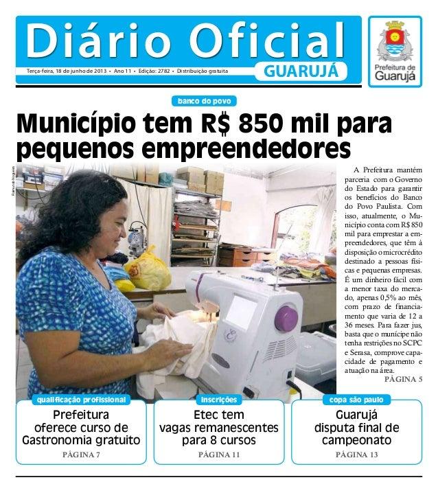 Prefeituraoferece curso deGastronomia gratuitoPágina 7qualificação profissionalbanco do povoGuarujádisputa final decampeon...