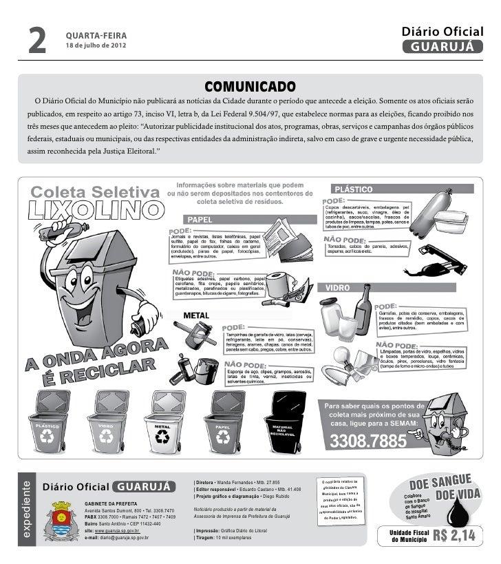 Diário Oficial de Guarujá - 18-07-2012 Slide 2