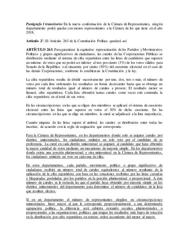 Proyecto de acto legislativo sistema mixto-cámara_concejos y asambleas Slide 2
