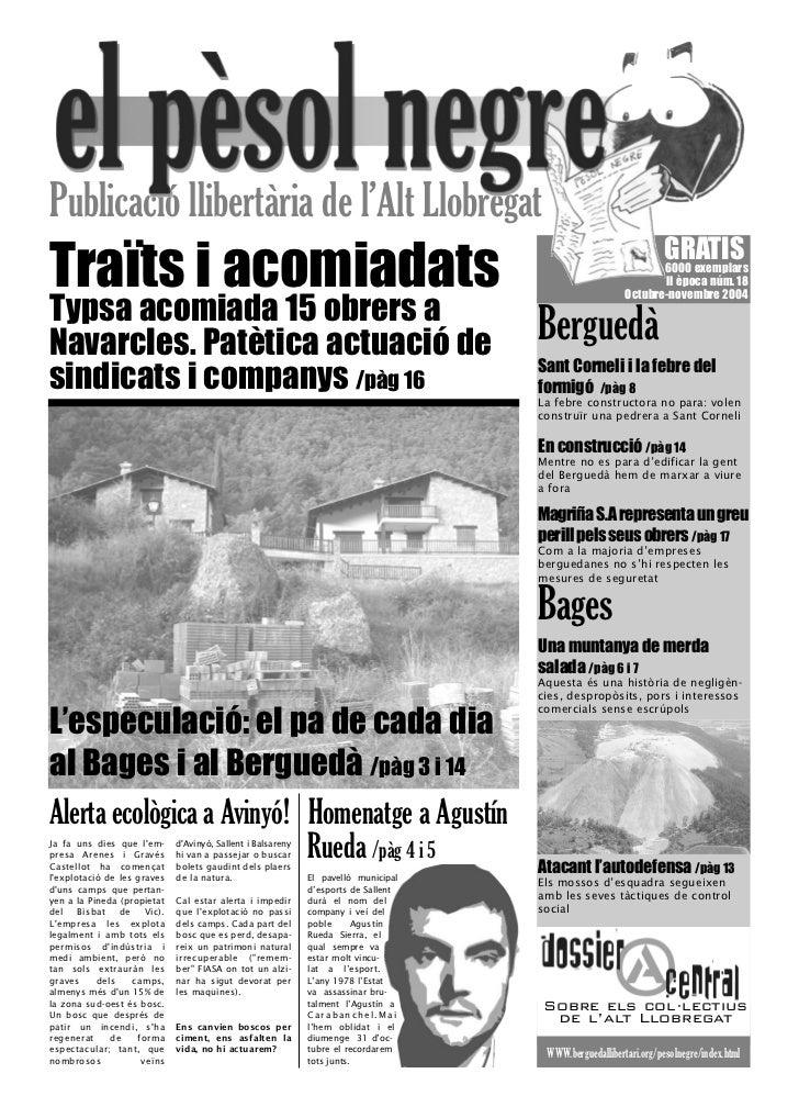 Publicació llibertària de l'Alt LlobregatTraïts i acomiadats                                                              ...