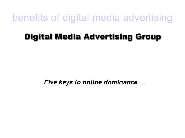 benefits of digital media advertising
