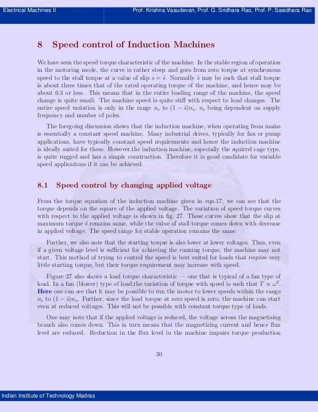 Electrical Machines II                             Prof. Krishna Vasudevan, Prof. G. Sridhara Rao, Prof. P. Sasidhara Rao ...