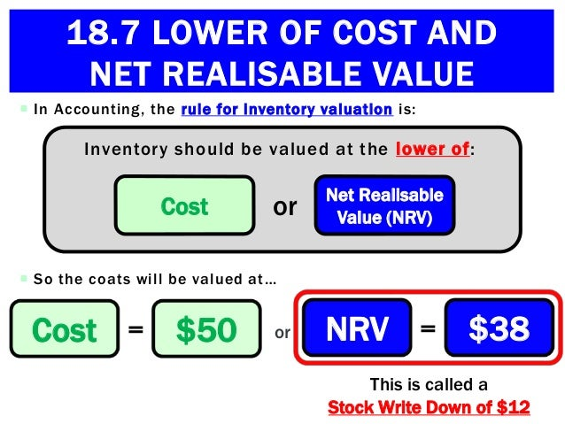 net realizable value - net realizable value advantages: allocates joint costs using ultimate net value of each product from accounting 451 at rutgers.