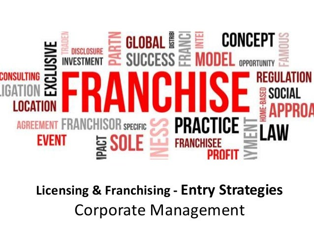 Licensing & Franchising - Entry Strategies Corporate Management