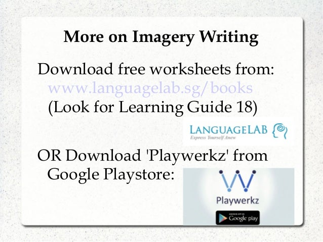 Languagelab 183 Master Imagery Writing – Imagery Worksheets