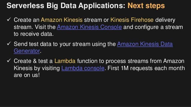 Building Big Data Applications with Serverless Architectures - June …