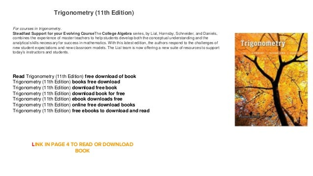 Free it pdf books download trigonometry text/waits by franklin d.