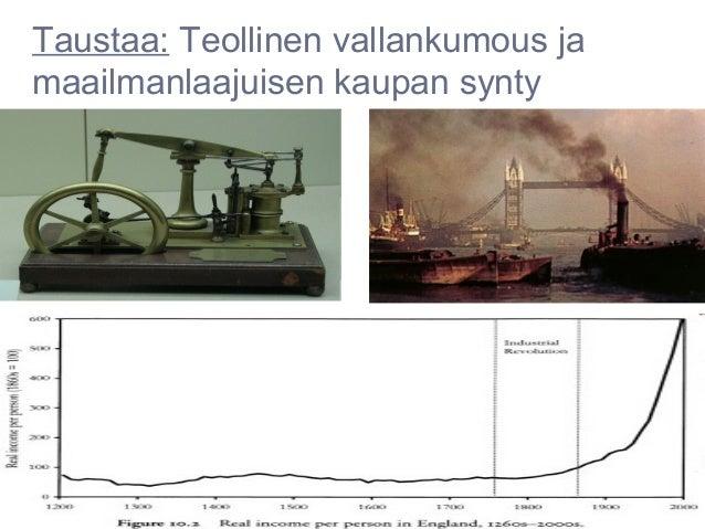 Taustaa: Teollinen vallankumous jamaailmanlaajuisen kaupan synty
