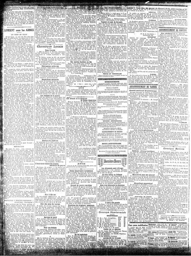 Le Nouvelliste du Morbihan - du 18 au 25 octobre 1914 Slide 2