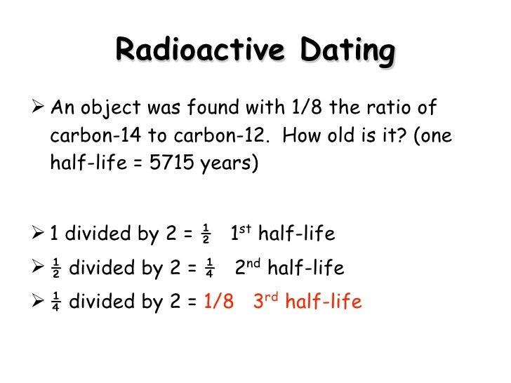 Define radiometric dating problems