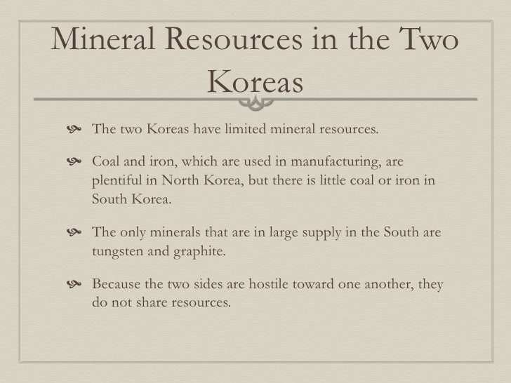 limited Asian mineral resources