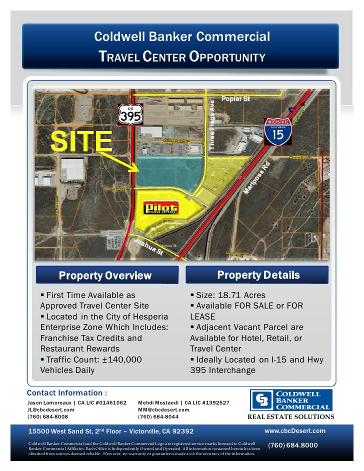 Coldwell Banker Commercial                                     TRAVEL CENTER OPPORTUNITY                                  ...