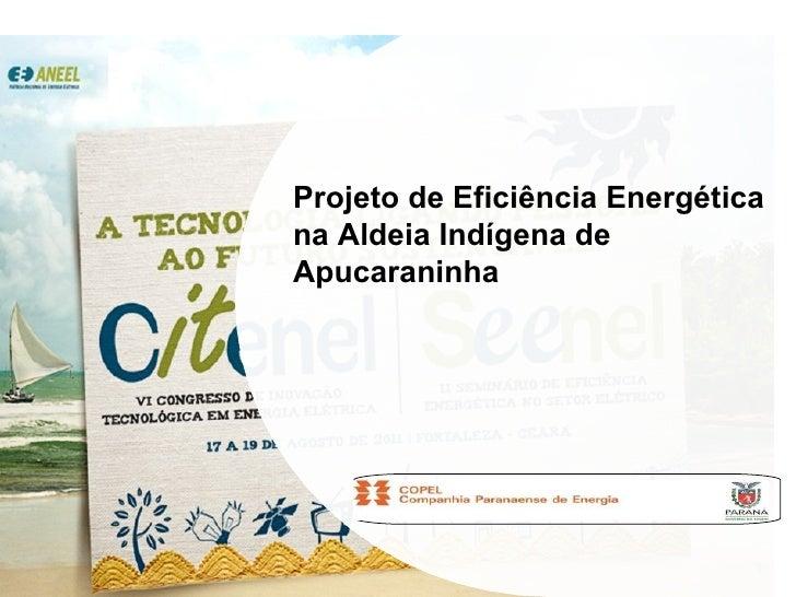 Projeto de Eficiência Energética na Aldeia Indígena de Apucaraninha