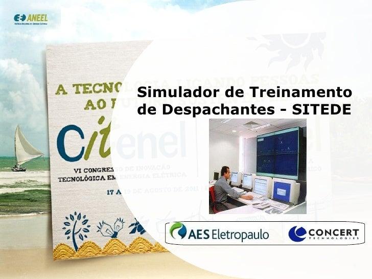 Simulador de Treinamento de Despachantes - SITEDE