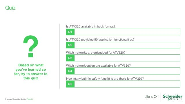 Altivar Machine ATV320 Variable Speed Drive Briefing