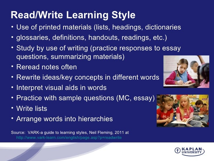learning styles 14 essay A learning style model based on the questions your students want answered   by pattern based writing: quick & easy essay | tips for teaching writing.