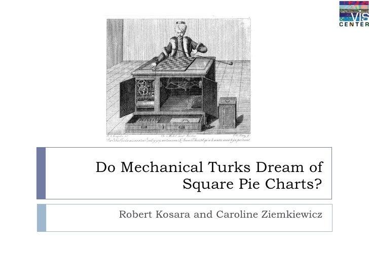 Do Mechanical Turks Dream of Square Pie Charts? Robert Kosara and Caroline Ziemkiewicz