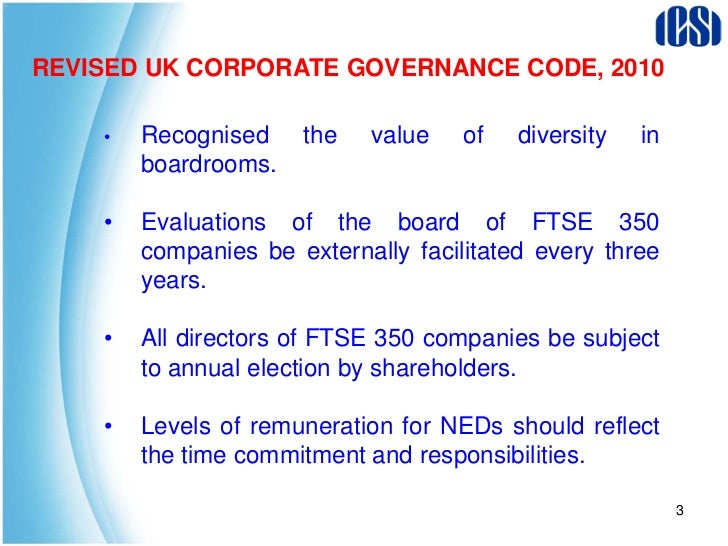 revised code of corporate governance Good corporate governance is not an end in itself it is a means to support economic efficiency, sustainable growth and financial stability it facilitates companies' access to capital for long-term investment and helps ensure that shareholders and other stakeholders who contribute to the success of.