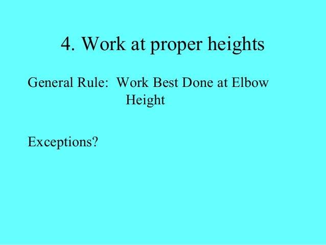 The Twelve Principles Of Ergonomics By Epa