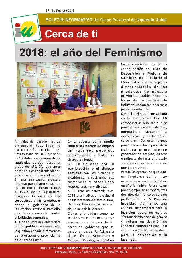 BOLET�N INFORMATIVO Izquierda Unidadel Grupo Provincial de grupo provincial de los verdes convocatoria por andaluc�aizquie...