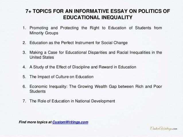 Complete Guide On Writing An Informative Essay On Politics Of Educati