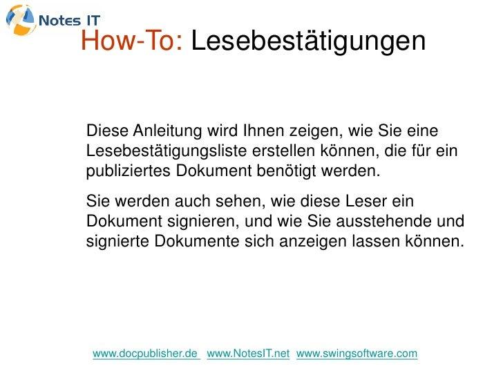 How-To: Lesebestätigungen   Diese Anleitung wird Ihnen zeigen, wie Sie eine Lesebestätigungsliste erstellen können, die fü...