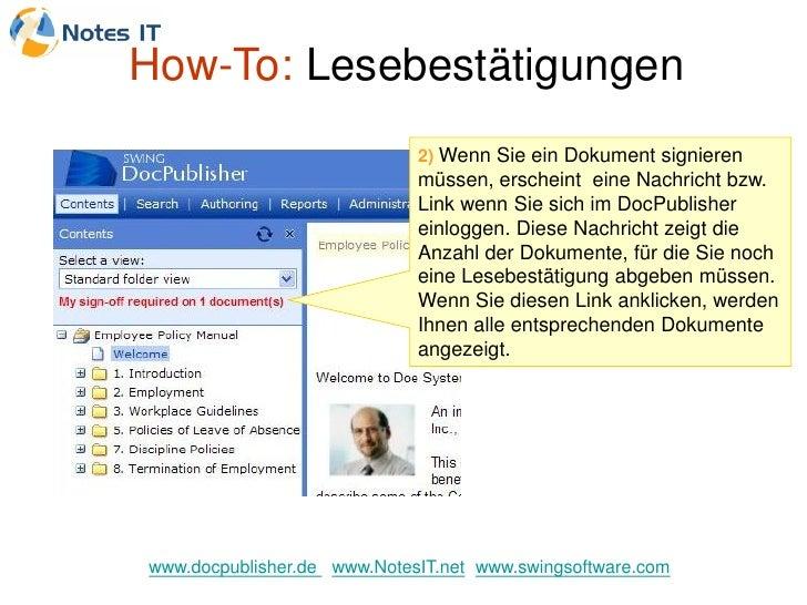 How-To: Lesebestätigungen                              2) Wenn Sie ein Dokument signieren                              müs...