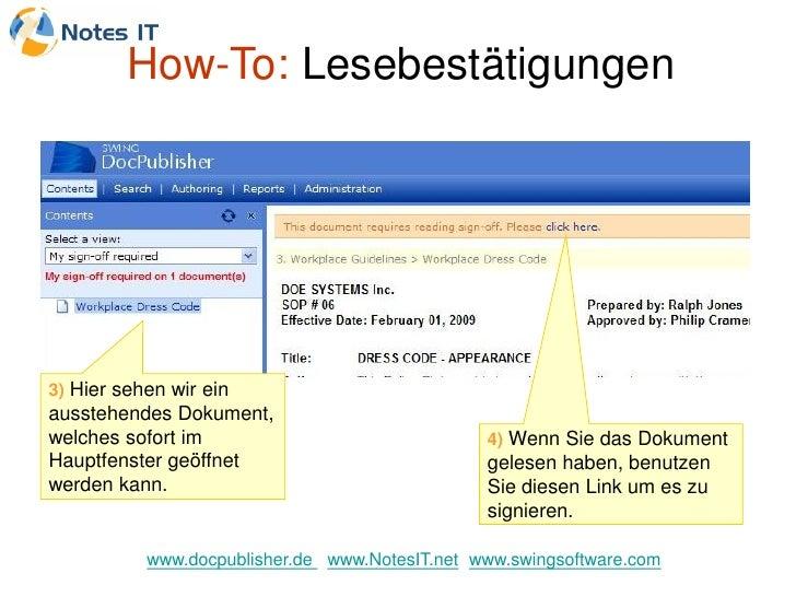 How-To: Lesebestätigungen     3) Hier sehen wir ein ausstehendes Dokument, welches sofort im                              ...