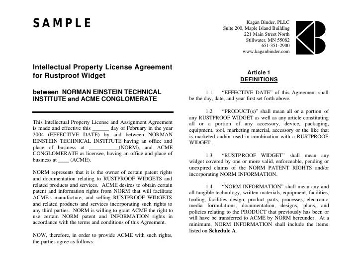 License Agreement Template Provendor License Agreement Template Pdf
