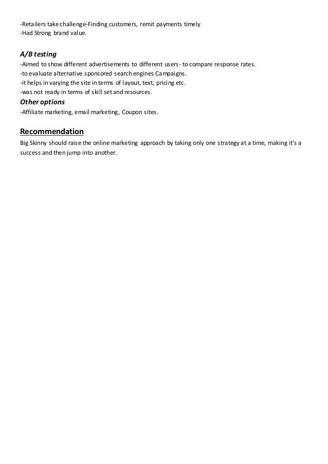 online marketing at big skinny pdf