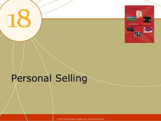 Personal Selling         © 2007 McGraw-Hill Companies, Inc., McGraw-Hill/Irwin