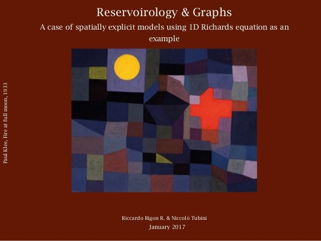 Reservoirology & Graphs A case of spatially explicit models using 1D Richards equation as an example Riccardo Rigon R. & N...
