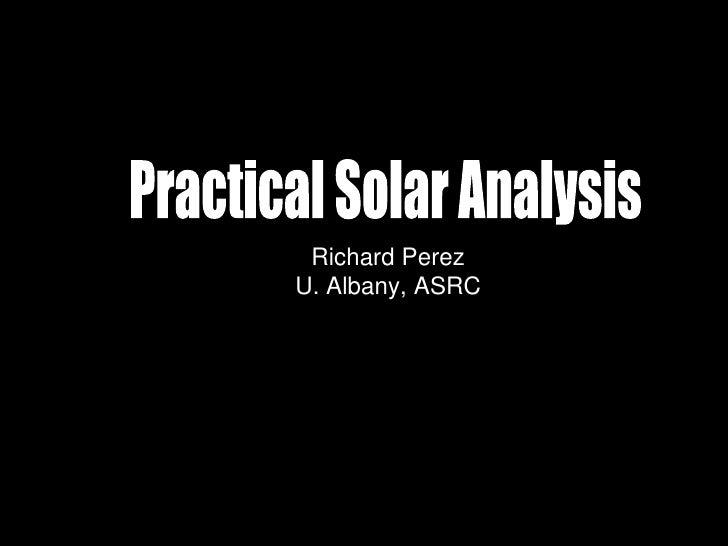 Richard Perez U. Albany, ASRC