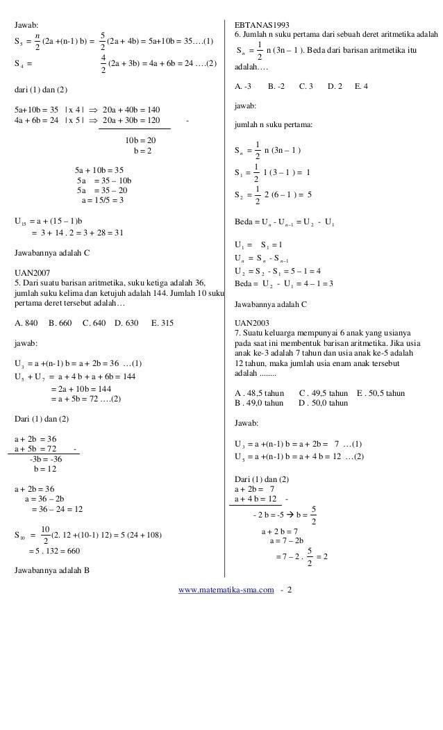 18. soal soal notasi sigma  barisan- deret dan induksi matematika Slide 2