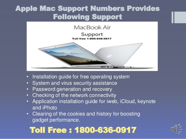 1800 636-0917 Apple Macbook air Support Number