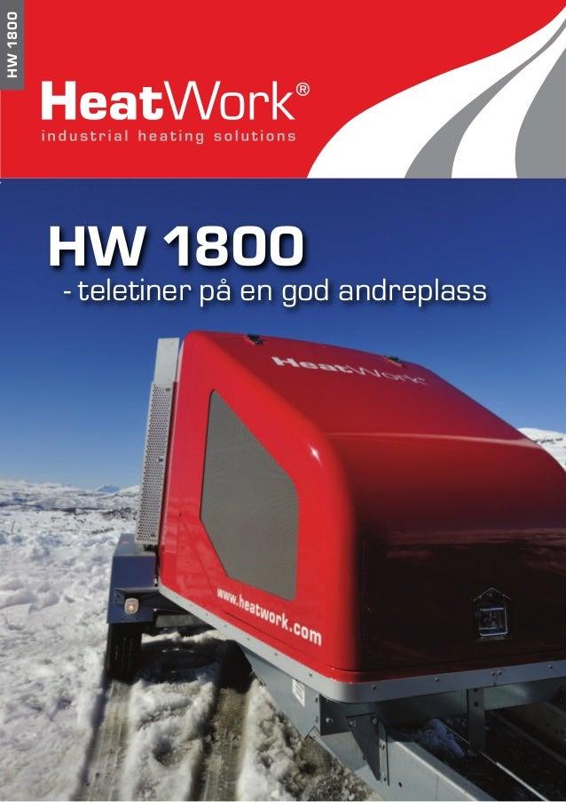 HW1800 HW 1800 - teletiner på en god andreplass